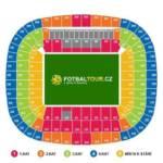Bayern Mnichov Allianz Arena mapa