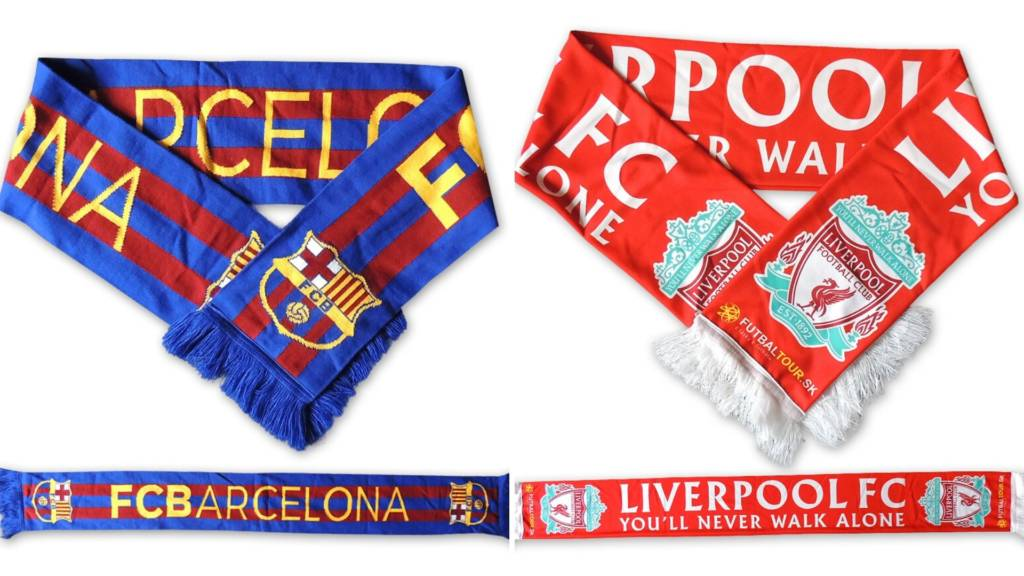 Šály Barcelona a Liverpool